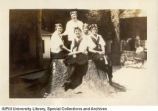 Women on Tree Stump, 1922