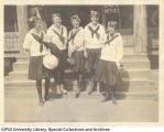 Women on Steps of Mammoth Cave Office, 1922