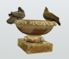 Miniature marble bird bath