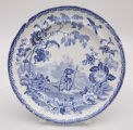 Blue and White Plate in Mandarin Pattern
