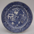 Blue and White Plate in the Willow Pattern