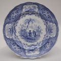 Blue and White Plate in the Columbus Pattern