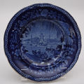 Blue Plate with an Oriental Scene