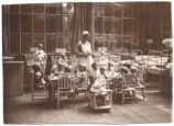 Children Eating in Orphanage Nursery, 1920s.