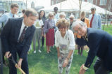 Charles Kuhn House Groundbreaking, 340 West Michigan Street, 1990 (Indianapolis, Ind.)