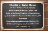 Charles Kuhn House, 340 West Michigan Street, n.d. (Indianapolis, Ind.)