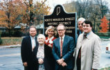 Sign Dedication, North Meridian Street, 1991 (Indianapolis, Ind.)