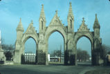 Entrance gates, Crown Hill Cemetery, 1971 (Indianapolis, Ind.)