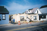 Demolition of building, 500 block Third Street, 2000 (Aurora, Ind.)