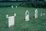 Grave markers, 1987 (Fountain Co., Ind.)