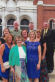 Catherine, Margie, Helen, Jon Cahill, Anne Elliot, Christie Denzer, Michael Cahill, Joan Cahill and Edward Cahill at a...