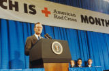 George Bush speaking at Red Cross National Headquarters, 1990