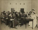 Women at desks