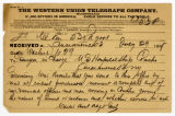 Telegram to surgeon in charge, July 29, 1898