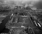 0016 Aerial view, Inland Steel Company Indiana Harbor Works, 1962