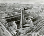 0011 Artist's Rendering, Inland Steel Company, Chicago Heights, Illinois plant, 1894