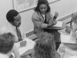 African diplomats visit class, 1989
