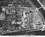Aerial of Medical Center Directly Overhead, 1955.