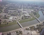 Aerial of IUPUI Looking E, [1975]