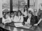 Angela McBride and Girl Scouts, 1994