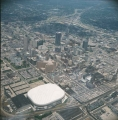 Aerial of Downtown Indianapolis Looking NE, 1984.
