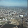 Aerial of Downtown Indianapolis Looking E, 1984.
