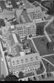 Aerial of Ball Residence Hall Looking W, 1986.