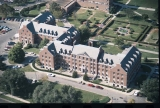 Aerial of Ball Residence Looking NW, 1985.