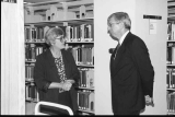 President Myles Brand Visit to Special Collections and Archives, 1995.