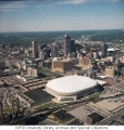 Aerial of Downtown Indianapolis Looking NE, 1990.
