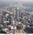 Aerial of Downtown Indianapolis Looking NE, 1991.
