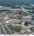 Aerial of IUPUI looking NW, 1992.