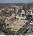 Aerial of Downtown Indianapolis Looking E, 1996.