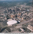 Aerial of Downtown Indianapolis looking NE, 1994.