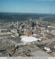 Aerial of Downtown Indianapolis looking NE, 1995.
