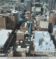 Aerial of Downtown Indianapolis looking N, 1995.