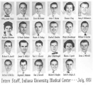 Intern Staff Indiana University Medical Center, July 1951.