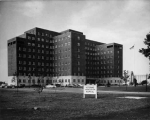 Veterans Adminstration Hospital Exterior, ca. 1955.