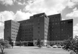 Veterans Administration Hospital Exterior, 1976.