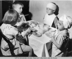 Riley Patients Mealtime, 1949.