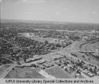 Aerial View of IUPUI Looking SW, 1967.