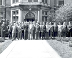 Group Portrait in front of Riley Hospital, 1949.