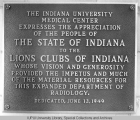 Lions Club Appreciation Plaque, 1949.