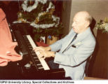 Charles Heckman at Piano, Maennerchor Christmas Party, 1981.