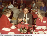 Charles and Ruth Ellinger at Christmas Party, 1981.