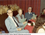Bob Behr at Indianapolis Maennerchor Christmas Party, 1981.