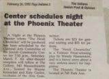 Center schedules night at the Phoenix Theatre