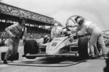 Winner Rick Mears Pits Stop during Indy 500, 1984
