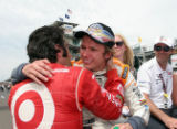Franchitti and Wheldon after Wheldon Wins Indy 500, 2010