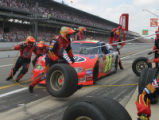 Jeff Gordon Pit Stop at Brickyard 400, 2002